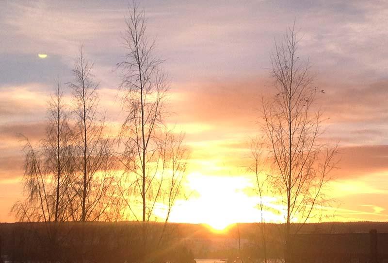solen på himlen